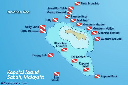 Kapalai Dive Resort Map