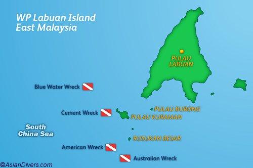DiveLabuan Map