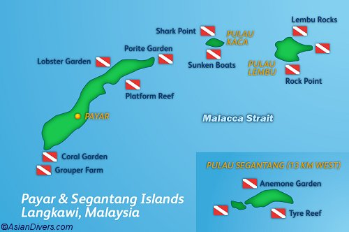 Dive Langkawi Map