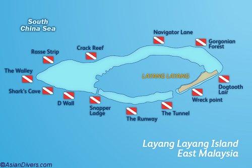 Dive Layang Layang Map