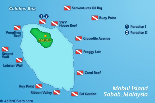 Dive Mabul Map
