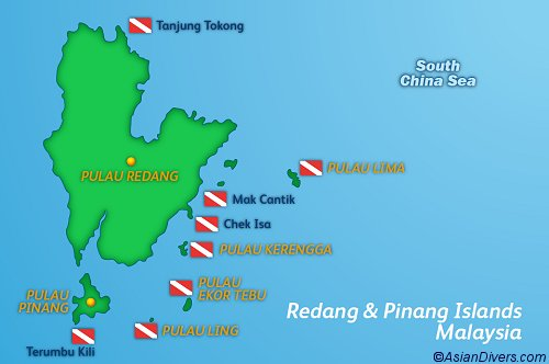 Dive Redang Map