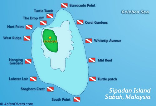 Dive Sipadan Map